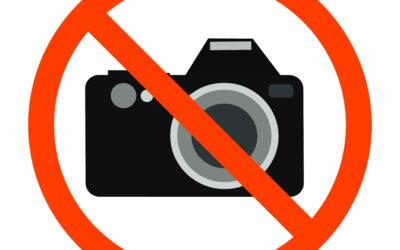 In Museen: fotografieren verboten